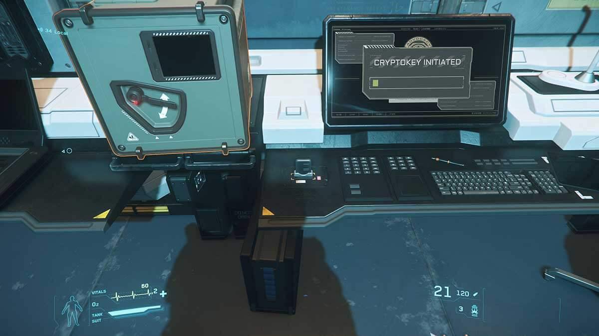 Der Cryptokey wird initialisiert