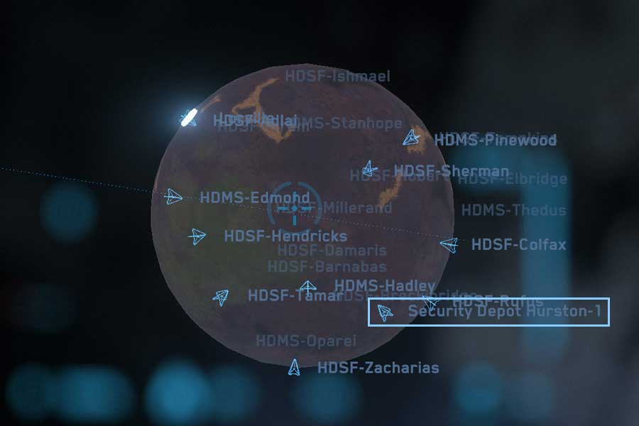 Star Map: Security Deposit Hurston